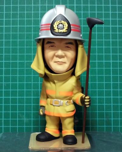 退職記念 消防士 製作事例