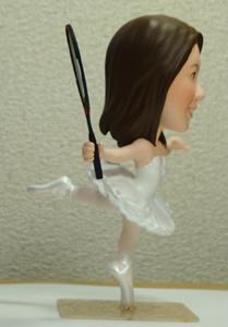 フルオーダーブライダルそっくり人形事例 新婦側面写真
