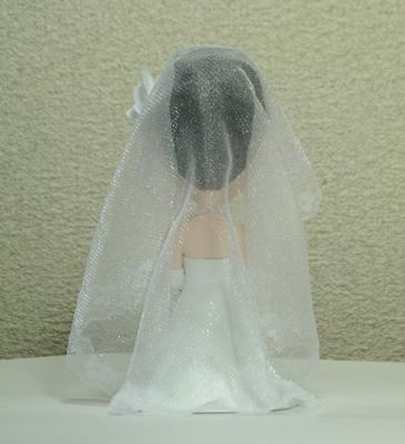 そっくり人形製作事例 ブライダル 新婦ベールオプション例 背面