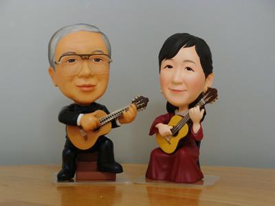 御夫婦ギター正面