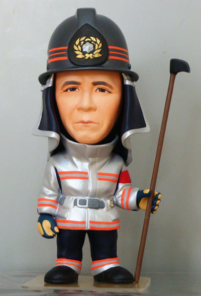 退職記念フィギュア 消防士