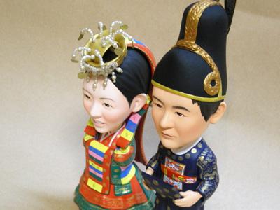 そっくり人形製作 ブライダル チマチョゴリ装飾品